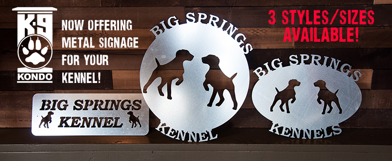 Metal Kennel Signs by K-9 Kondo