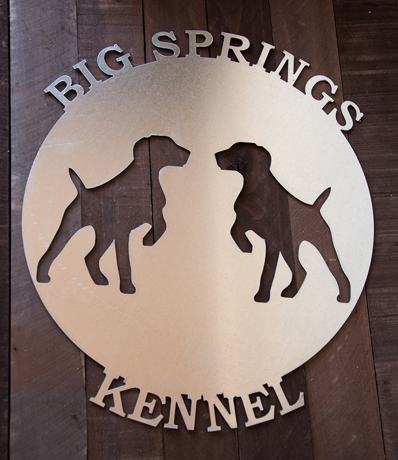 Round Metal Kennel Sign - Custom made
