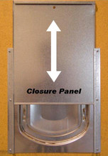 Rear closure panel when partially closed.