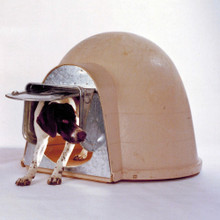 K-9 Kondo now offers a chew-proof Igloo dog door for the Dogloo XT  doghouse.