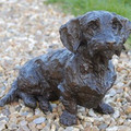 Lifesized Wirehaired Dachshund Sculpture by Rosemary Cook