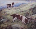 Spaniels Quartering The Moor - Original Watercolour by Pippa Thew