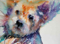 Walkies - Westie Watercolour by Jean Haines