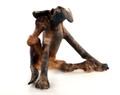 Brindle Scratching Dog by Virginia Dowe Edwards