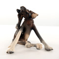 Seated Scratching Dog by Virginia Dowe Edwards