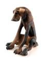 Doleful Seated Dog by Virginia Dowe Edwards