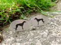 Pair of Silver Greyhound Cufflinks by Hannah Louise Lamb