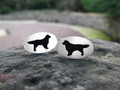 Pair of Silver Retriever Cufflinks by Hannah Louise Lamb