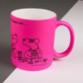 Girls' Night Out - Off the Leash' Neon Mug by Rupert Fawcett