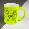 Obedience Classes - Off the Leash' Neon Mug by Rupert Fawcett