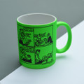 Ha ha!  Daddy's Home - Off the Leash' Neon Mug by Rupert Fawcett
