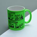 Ha ha!  Daddy's Home - Off the Leash' Neon Mug by Rupert Fawcett