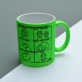 Dad in the Family Heirarchy - Off the Leash' Neon Mug by Rupert Fawcett