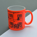 Dad puts on his walking boots!  Off the Leash' Neon Mug by Rupert Fawcett
