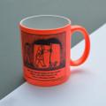 'Off the Leash' Family Pecking Order Mug.  Neon Mug by Rupert Fawcett