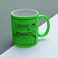 Personalised - Dad, I think you'll find the sofa's free!- Off the Leash' Neon Mug by Rupert Fawcett