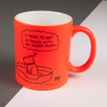 Personalised - Inner Puppy - Off the Leash' Neon Mug by Rupert Fawcett