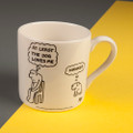 At Least the Dog Loves Me - Off the Leash' Creamware Mug by Rupert Fawcett