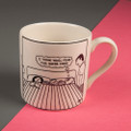 I Think You'll Find the Sofa's Free - Off the Leash' Creamware Mug by Rupert Fawcett