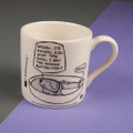 Groan...Set the Alarm for Friday - Off the Leash' Creamware Mug by Rupert Fawcett