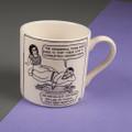 Unconditional Love - Off the Leash' Creamware Mug by Rupert Fawcett