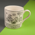Silly Dog Names - Off the Leash' Creamware Mug by Rupert Fawcett