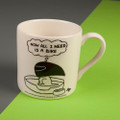 Now All I Need is a Bike - Off the Leash' Creamware Mug by Rupert Fawcett