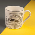 Quick Close You're Eyes - Off the Leash' Creamware Mug by Rupert Fawcett