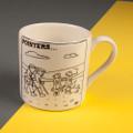 Pointers - Creamware Mug by Rupert Fawcett