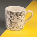 Next Door's Cat - Creamware Mug by Rupert Fawcett
