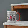 Help with the Washing Up  - Off the Leash' Coloured Mug by Rupert Fawcett