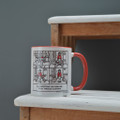 Getting Through Christmas Customs!  - Off the Leash' Coloured Mug by Rupert Fawcett