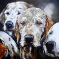  Wet Day Dogs an Acrylic Painting by Paula Vize