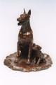 Doberman Bronze Sculpture by Eskandar Magzub