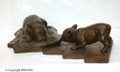 French Bulldog Bronze Sculpture by Eskandar Magzub