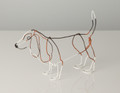 Wire Sculpture of Basset Hound by Bridget Baker