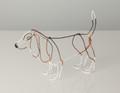 Wire Sculpture of Basset Hound by Bridget Baker