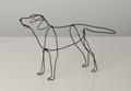 Wire Sculpture of Black Labrador by Bridget Baker