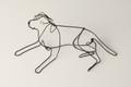Wire Sculpture of Reclining Labrador by Bridget Baker
