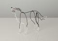 Wire Sculpture of Border Collie by Bridget Baker