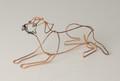 Wire Sculpture of Border Terrier by Bridget Baker