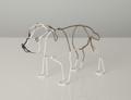 Wire Sculpture of Bulldog by Bridget Baker