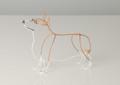 Wire Sculpture of Corgi by Bridget Baker