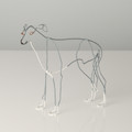 Wire Sculpture of Greyhound by Bridget Baker