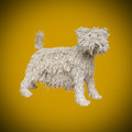 Westie Ropey Dog Sculpture by Dominic Gubb