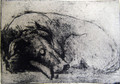 'Peace' A Soft Ground Etching by Tor Hildyard