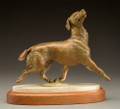 'Lives to Please' Bronze Golden Retreiver Sculpture by Joy Beckner