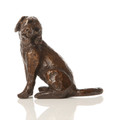 Seated Pup Sculpture by Alison Shepherd in Cold Cast Bronze