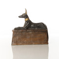 Anubis Sculpture (Black & Gold) by Alison Shepherd in Cold Cast Bronze