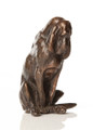 Tiny Bronze Sculpture of a Bloodhound by Louise Peterson